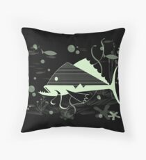 Atomic Fish #1 Throw Pillow