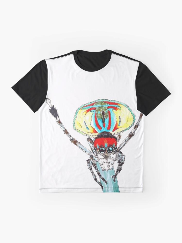 Alternate view of Peacock spider Maratus volans Graphic T-Shirt