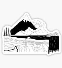 Grafischer geologischer Querschnitt Sticker