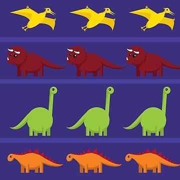 Cute Dinosaurs by lisa-richmond
