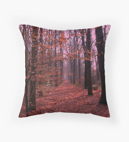 Autumn walk in the forest Throw Pillow