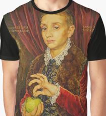 Boy With Apple Graphic T-Shirt