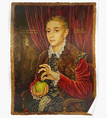 Boy With Apple Poster