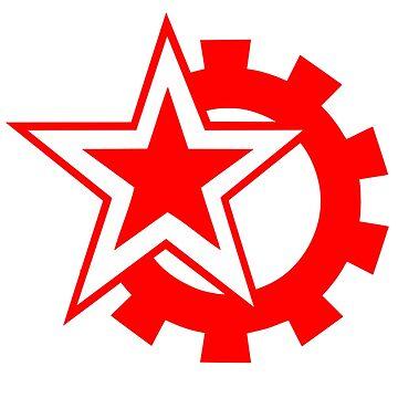 Red Star & Gear by robayoxd