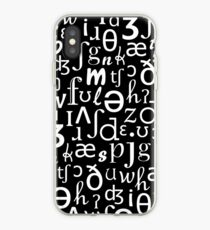 English Phonetic Sounds | Linguistics (Black) iPhone Case
