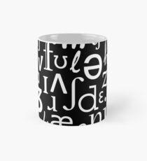 English Phonetic Sounds   Linguistics (Black) Mug