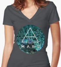 30 seconds to mars under water Women's Fitted V-Neck T-Shirt
