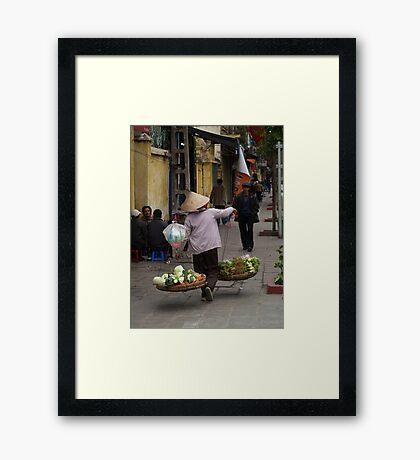 vegetables over the shoulder : 535 views Framed Print