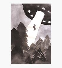 Alien Abduction (Black) Photographic Print