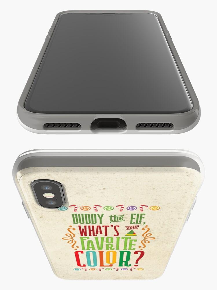 Alternative Ansicht von Buddy the Elf - Was ist deine Lieblingsfarbe? iPhone-Hülle & Cover