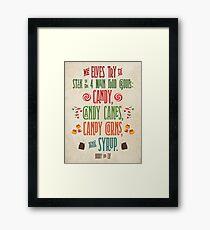 Buddy the Elf - The Four Main Food Groups Framed Print