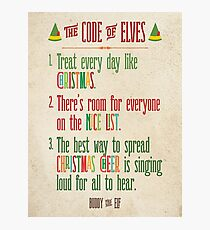 Buddy the Elf! The Code of Elves Photographic Print