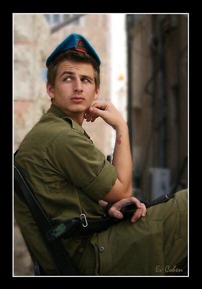 Israeli Soldier by EvCohen