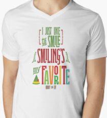Buddy the Elf - Smiling's My Favorite! V-Neck T-Shirt