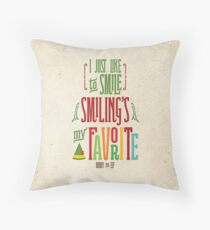 Buddy the Elf - Smiling's My Favorite! Throw Pillow