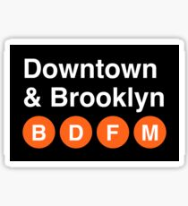 Downtown & Brooklyn Sticker