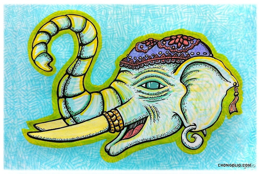 Elephant of Siam by chongolio