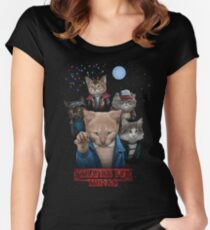 Strange Fur Things Fitted Scoop T-Shirt