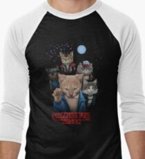 Strange Fur Things Men's Baseball ¾ T-Shirt