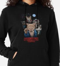 Strange Fur Things Lightweight Hoodie