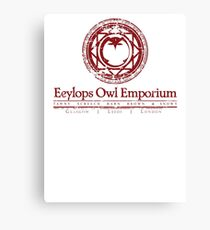 Owl Emporium Logo (red) Canvas Print