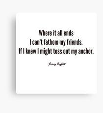 Jimmy Buffett - Son of a Sailor Canvas Print