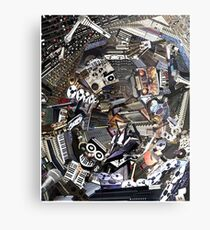 Analogue Technodelic, Sound Engineering Collage Metal Print