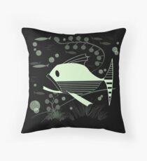 Atomic Fish #4 Throw Pillow