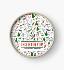This is a holiday gift Clock