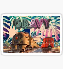 Gravy Vintage Train Sticker
