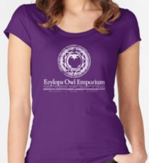 Owl Emporium (white) Women's Fitted Scoop T-Shirt