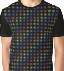 Inline Rainbow Flower Pattern Graphic T-Shirt