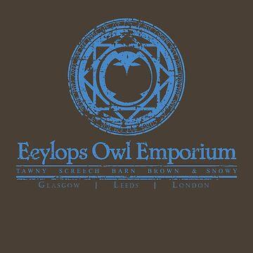 Owl Emporium (blue) by adamgamm