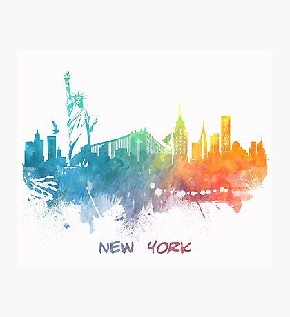 New York City skyline colored Photographic Print