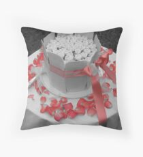 Homemade Wedding Cake Throw Pillow