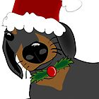 Doxie Christmas by Diana-Lee Saville