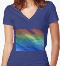 The Serenity Prayer Women's Fitted V-Neck T-Shirt