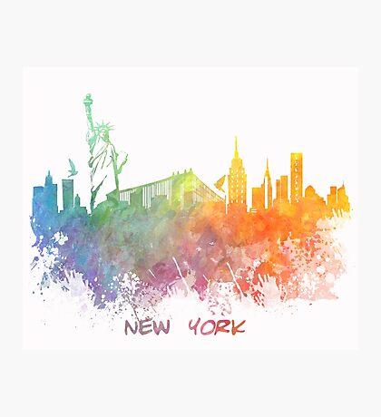 New York City colored skyline Photographic Print