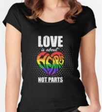 Love Is About Hearts Not Parts Women's Fitted Scoop T-Shirt