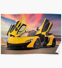 McLaren P1 at Sunset Poster