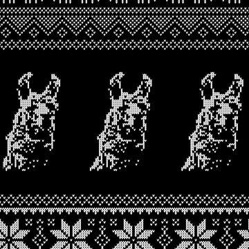 Llama Christmas Pattern Vintage by pastaneruda