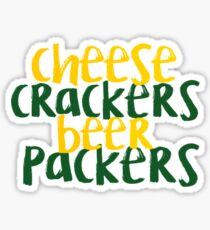 Cheese Crackers Beer Packers Sticker