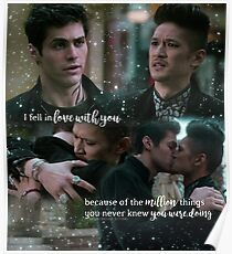 Malec + Quote Poster