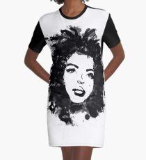 Vestido camiseta Lauryn Hill (monocromo)