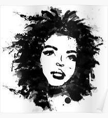 Lauryn Hill (Monochrom) Poster