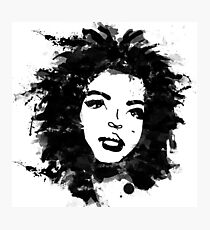 Lauryn Hill (monochrome) Photographic Print