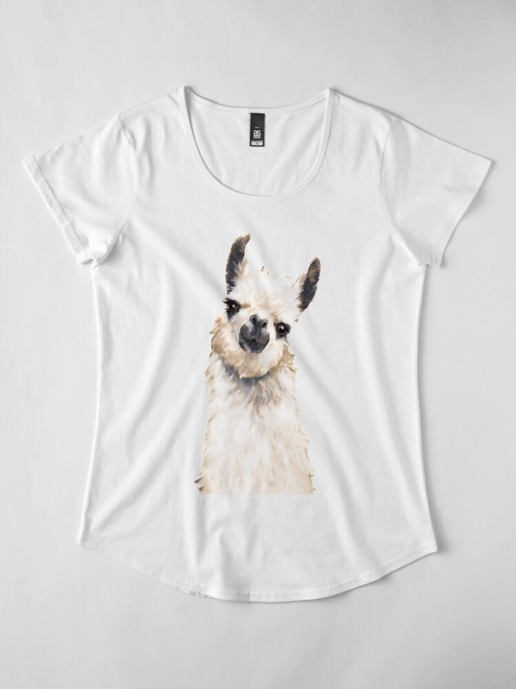 Alternate view of Llama Premium Scoop T-Shirt