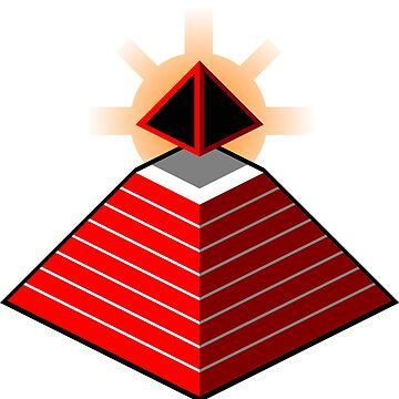 Red Pyramid And Sun  by MeBlue276