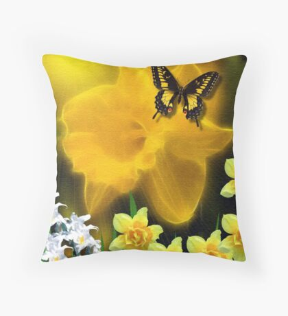 ~ DAFFODIL DELIGHT ~ Throw Pillow
