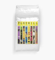 Custom Broadway Playbill Framed Art Collage Duvet Cover